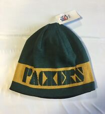 Green Bay Packers Knit Beanie Winter Hat Toque Skull Cap NEW Block reversible
