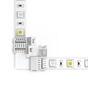5Pcs Strip to Strip L-Shape PCB Connector 10mm for 5-Pins RGBW LED Strip Light