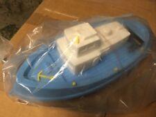 Jouet plastique soufflé bateau pêche ancien neuf emballage 38 cm