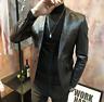 New Mens Formal Dress Motorcycle Leather Jacket Blazer Coat Alligator Pattern