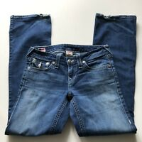 TRUE RELIGION Becky Boot Cut Jeans Flap Pockets Made in USA Women's 28