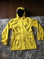 The North Face Women's Hyvent Long Yellow Hooded Rain Coat Jacket Sz M