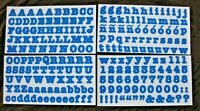 Creative Memories Blue ABC/123 Stickers - Bold Matte Style - Free Shipping!!