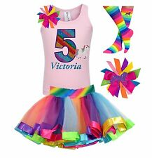 Bubblegum Divas 5th Birthday Unicorn Shirt Rainbow Outfit Personalized Gift 5