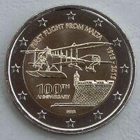 2 Euro Malta 2015 Erstflug von Malta unz
