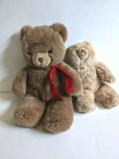 Lot of 2 Gund 1980s Teddy Bears Plush Vintage Stuffed Animals