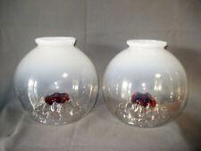 2 x MAZZEGA Glas Lampenschirme, Italien, 70er