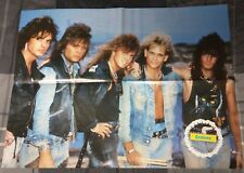 EUROPE / PLATINUM BLONDE / JOEY TEMPEST / 1880'S 4 PAGE MAGAZINE POSTER + DVD