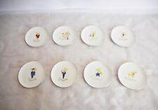 "8 Pottery Barn Christmas Santa's Reindeer 4 1/2"" Plate Set made in japan"