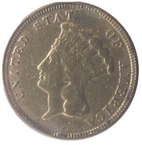 1854 Indian Three Dollar Gold Coin ($3) Rare Coin