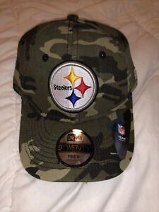 NWT NEW ERA 9TWENTY Youth Adj Pittsburgh Steeler Camo Cap