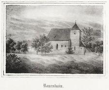 NAUENHAIN (GEITHAIN) - ALTE ST. GEORGSKIRCHE - Lithografie 1843