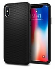 Spigen funda modelo Liquid Air para Apple iPhone X color negro mate