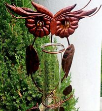 owl Rain gauge with XL easy to read glass tube
