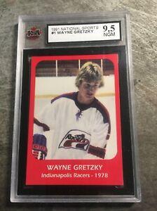 Wayne Gretzky 1978 Indianapolis Racers RC Rookie Card #1 KSA 9.5 MT/GM
