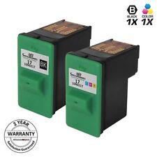 2pk Black & Color Ink Cartridge for Lexmark 17 27 10N0217 X1290 X2240 X1240