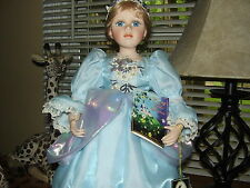 Geppeddo FAIRY TALE SERIES 16IN. CIDERELLA Doll  W/ Stand, and  Tags At The Ball