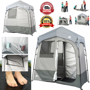 Instant Shower/Utility Shelter 2 Room  Outdoor Portable Privacy Instant Tent NEW