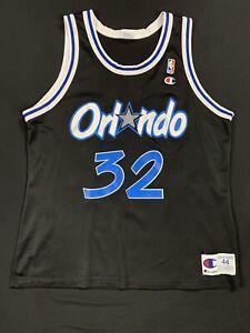 Vintage Champion Shaquille O'Neal Jersey Orlando Black OG 44 NBA Shaq 90s