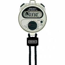 SEIKO STOPWATCH TIME KEEPER VIB SSBJ023 Alarm Silver Electronic Timer Sports