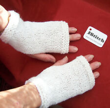 Hand Knitted Ladies Wrist Warmers, Fingerless Mittens,