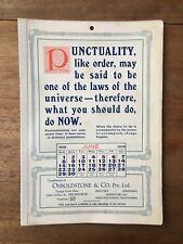 ANTIQUE JUNE 1919 CALENDAR OSBOLDSTONE & CO MELBOURNE PRINTER VINTAGE