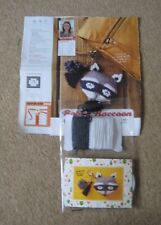 Racoon Bag Charm Knit Kit