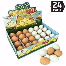 Bouncy Easter Egg Realistic Fake Rubber Bouncing Rubber Eggs Party Favors 24Pcs