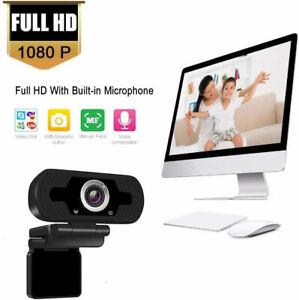 Webcam with Microphone Full HD 1080P Webcam for PC, Laptop, Desktop, USB Camera