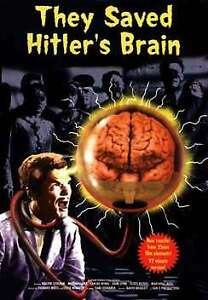 They Saved Hitlers Brain DVD 1963 - NEW TRANSFER FROM 35MM FILM ELEMENTS