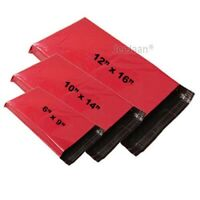 Strong Red Mailing Bags Coloured Plastic Postage Bags Self Seal Poly Mailer Bags