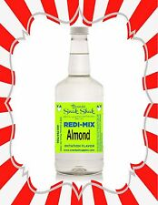 Shaved Ice Syrup -ALMOND FLAVOR IN LONG NECK QUART SIZE-BEST IN USA