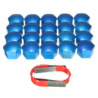20x Wheel Nut Bolt Covers CAPS Fit Ford Focus Mondeo Kuga C Max Fiesta 19mm Blue