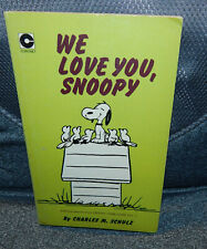 WE LOVE YOU SNOOPY PAPERBACK 1973. CORONET BOOKS. VGC.