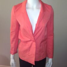 H&M Divided Blazer Size 2 Womens Dress Jacket Coral Pink Single Button