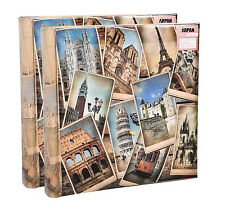 "2 x arpan VINTAGE europeantravel MEMO Photo Album per 200 foto 4 ""x 6' - fb200"