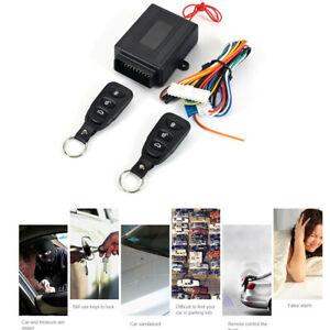 Black Car Central Door Power Lock Unlock Kit Keyless Remote Control Entry System