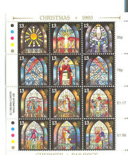 Guernsey - Christmas Stained Glass windows mnh sheet