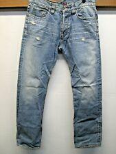 EUC KMW Blue Jeans Kicking Mule Workshop vtg 1980 Indigo Dye Japan made sz 33x32