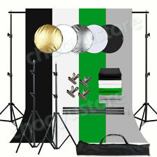 1.6/2X3M Photography Studio Non-woven Background 4-color Backdrop Stand Kit Us
