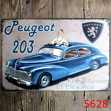 Metal Tin Sign peugeot 203 Bar Pub Home Vintage Retro Poster Cafe ART