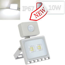 Thin 10W Motion Sensor Led Flood Light Cool White Outdoor Security Lamp Fixtures