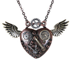Steampunk Wing Necklace Gearwork Pendant steam punk gear jewelry jewellery