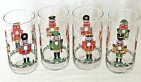Vintage Libbey Christmas Nutcracker Glass Tumblers Set of 4
