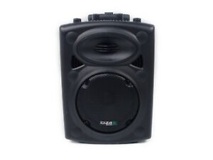 Lautsprecher Ibiza Port8VHF-N DJ PA Akku Sound Box 400 Watt Karaoke Schwarz