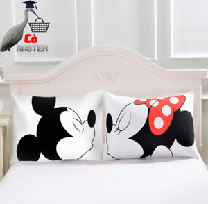 New Hot Cartoon Mickey Mouse Pillowcase Couple Lovers Gift Decoration Bedroom