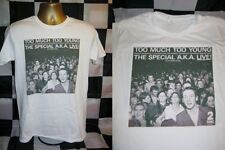 """THE SPECIAL AKA- TOO MUCH TOO YOUNG- 7"""" SLEEVE PRINT T SHIRT-WHITE- EXTRA LARGE"""