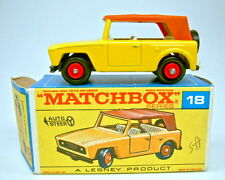 "Matchbox RW 18E Field Car gelb schwarze Bodenplatte top in ""F"" Box"