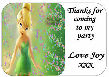 24 DISNEY TINKERBELL BIRTHDAY PARTY BAG STICKER LABELS