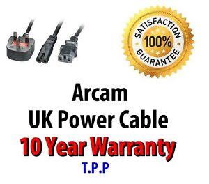 GENUINE UK Mains Power Lead Cable Cord For Arcam Audio Visual & Hi-Fi Equipment